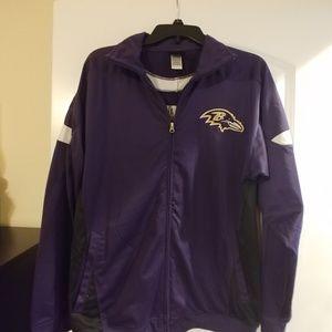 Ravens NFL zip up nylon jacket